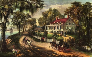 A Home on the Mississippi Currier and Ives